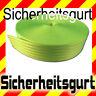 Sicherheitsgurt neon grün Meterware TUNING , Polyester Gurt Gurtband Autogurt