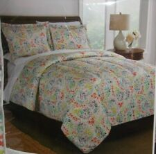 Interiors by Design Full/Queen Size 3 Piece Microfiber Comforter Set Multi-Color