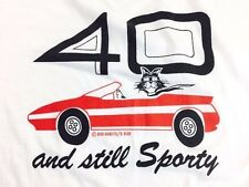 Vintage 40 and Still Sporty Shirt Porsche Tesla Ferrari 1990s Screens Stars L