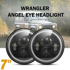 """Pair 7""""inch Round LED Headlight DRL Light for Land Rover 90/110 Defender"""