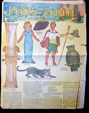 Newspaper Paper Doll - Jorinda  and Jorindel, 1919 - Great Britain