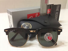 e672a3e84b New ListingRay Ban Clubmaster Sunglasses POLARIZED Green Lens Black Gold  Frame Size 51mm
