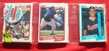 1990 Fleer Baseball Cards Rack Pack Unopened Kirby Puckett and John Smoltz
