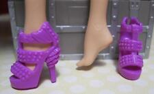 Barbie Doll Model Muse PURPLE OT RUFFLE STUD SPIKE High Heel Dress Party Shoes