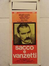 SACCO E VANZETTI drammatico regia Giuliano Montaldo locandina orig. 1971