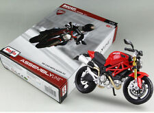 Diecast Diy Ducati 696 Model 1/12 Scale Assembled Motorcycle Kit Autobike Toys
