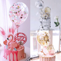 Confetti Latex Balloons Cake Topper Wedding Birthday Party Decor Plugin Supply