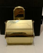 "Vintage Brass Toilet Paper Mount Holder Made In ""West Germany"""
