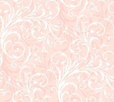 York Wallcoverings KD1727 Just Kids Layered Scroll Light Pink Fine Wallpaper