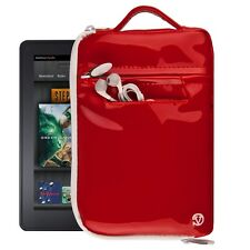 """Patent Leather Sleeve Handle Tote Pouch Bag For Fire 7"""" Tablet Fire Kids Edition"""