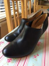Coach Black Leather high heel shoe boots size 5