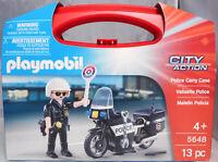 Playmobil US 5648 Police Carry Case Polizist Motorrad + Zubehör im Koffer NEU