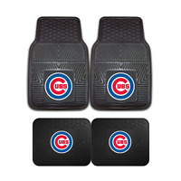 Chicago Cubs MLB 2pc and 4pc Mat Sets - Heavy Duty-Cars, Trucks, SUVs