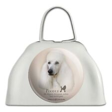 Poodle Dog Breed White Metal Cowbell Cow Bell Instrument