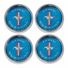 1964 1965 1966 ford mustang blue style wheel centre caps new set