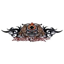 Aufkleber Totenkopf mit Iron Cross Tribal 20x6cm Nitrous Threat Decal Airbrush
