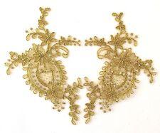 1 mirror pair gold thread and cord sequin medallion motif tutu dance costume