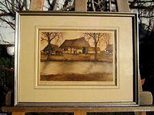 Künstlerische Malerei von 1900-1949 auf Papier mit Radierungs-Technik