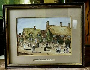 Vintage Houses Of Berry Green 1903 Art Print Framed