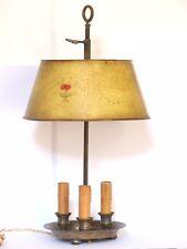 Lampe bouillotte en tôle peinte XIXème 3 feux / Bronze lamp painted 19th century