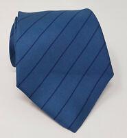 Cravatta giorgio armani blu 100% pura seta tie silk original made italy