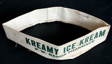 Vintage BANGS SODA FOUNTAIN Kreamy Kream ICE CREAM Cloth Hat SAN DIEGO PHARMACY