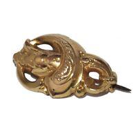 Broche ancienne art nouveau de couleur or bijou