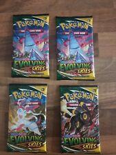 More details for pokemon evolving skies 4 x booster packs i sword & shield i new & sealed