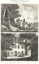CORSE (CORSICA) -DU-SUD. Napoléon Paoli; Maison Napoléon à Ajaccio 1835 print