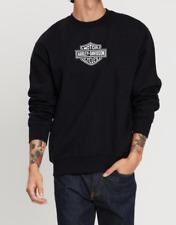 Black Plexed.UK Sweatshirt Men Harley-Davidson logo front & back Sweater jumper