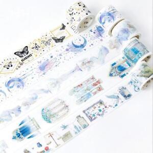 Bronzing Dreamlike Rashomon angel girl washi tape DIY diary masking tape 5M