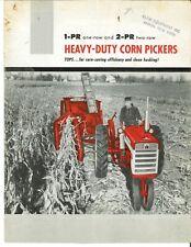 Ih International Harvester 1 Pr 2 Pr 1 2 Row Corn Picker Brochure Pull Type Pto