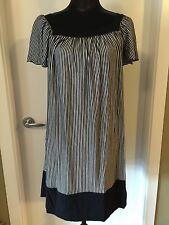 Ella Moss Black & White Stripe Dress M