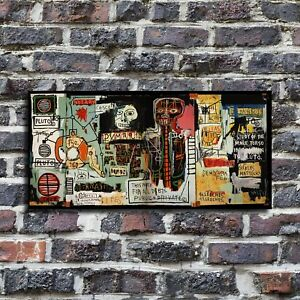 """48x24 inches Jean-Michel Basquiat """"Notary"""" HD canvas print large size picture"""