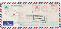 Indonesia 1980 Pan Indonesia Bank Regd Airmail Meter Mail Stamp Cover Ref 29963