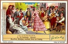 Dance Fandango Spain Espagne Spanje Flamenco Guitar Music 1930s Trade Ad Card
