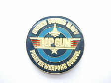TOP GUN TOM CRUISE FILM NAVY FIGHTER SCHOOL MOVIE AEROPLANE ENAMEL PIN BADGE 99p