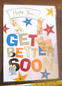 Hope You Get Better Soon Get Well Soon Card & Envelope New