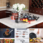 15 Piece Hammered Cookware Set Nonstick Granite Coated Pots and Pans Set Gold