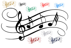 MUSIC Notes Tune Wall Art Sticker Vinyl Wall Book Stickers School Rooms Venues
