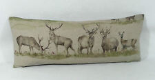 "Voyage Fabric Moorland Stag Cushions 23"" x9""  Cushion Inc Feather Cushion Pad"