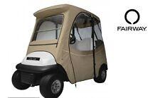 Custom Golf Cart Enclosure Club Car Precedent 2 Person Khaki Tan Short Roof