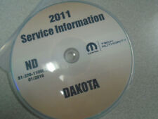 2011 DODGE DAKOTA TRUCK Service Shop Repair Manual CD DVD DEALERSHIP BRAND NEW