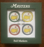 2020 Masters Golf Ball Marker Set Augusta National Set of 4 Ready To Ship!