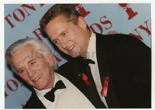 Michael and Kirk Douglas - Vintage Candid Photograph by Peter Warrack