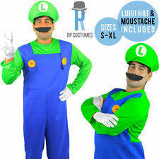 Polyester Complete Outfit Costumes Luigi for Men