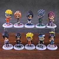Naruto Sakura Kakashi Sasuke Uzumaki Naruto PVC Action Figure Toy 10pcs/set