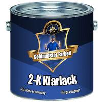 2,5 kg Goldmeister Farben 2k Klarlack Härter SET glänzend 2-K Lack Transparent