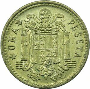 COIN / SPAIN / 1 PESETA 1966 '69 UNC  #WT23593