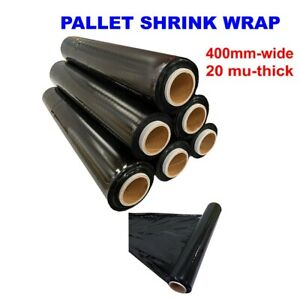 BLACK SHRINK WRAP CAST PARCEL PACKING CLING FILM STRONG ROLL PALLET STRETCH WRAP